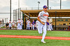Cortland Crush Alex Flock (10) being introduced before playing the Niagara Power in the first game of the New York Collegiate Baseball League Championship Series at Gutchess Lumber Sports Complex in Cortland, New York on Saturday, July 27, 2019.