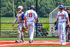 Cortland Crush Garrett Callghan (15) scoring a run against the Niagara Power in New York Collegiate Baseball League playoff action at Gutchess Lumber Sports Complex in Cortland, New York on Saturday, July 27, 2019. Niagara won 10-6.