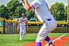 Cortland Crush Alex Flock (10) at Third Base against the Niagara Power in New York Collegiate Baseball League playoff action at Gutchess Lumber Sports Complex in Cortland, New York on Saturday, July 27, 2019. Niagara won 10-6.