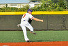 Cortland Crush Anthony Cieszko (3) fields and throwing the ball against the Niagara Power in New York Collegiate Baseball League playoff action at Gutchess Lumber Sports Complex in Cortland, New York on Saturday, July 27, 2019. Niagara won 10-6.