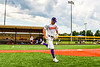 Cortland Crush Nicholas Pastore (1) being introduced before playing the Niagara Power in the first game of the New York Collegiate Baseball League Championship Series at Gutchess Lumber Sports Complex in Cortland, New York on Saturday, July 27, 2019.