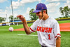 Cortland Crush Nicholas Pastore (1) before playing the Niagara Power in the New York Collegiate Baseball League Championship Series at Gutchess Lumber Sports Complex in Cortland, New York on Saturday, July 27, 2019.