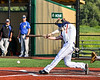 Cortland Crush Anthony Cieszko (3) hits the ball against the Niagara Power in New York Collegiate Baseball League playoff action at Gutchess Lumber Sports Complex in Cortland, New York on Saturday, July 27, 2019. Niagara won 10-6.