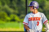 Cortland Crush Anthony Cieszko (3) playing against the Niagara Power in New York Collegiate Baseball League playoff action at Gutchess Lumber Sports Complex in Cortland, New York on Saturday, July 27, 2019. Niagara won 10-6.