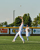 Cortland Crush Jack Lynch (2) runs under and catches a pop up for an out against the Niagara Power in New York Collegiate Baseball League playoff action at Gutchess Lumber Sports Complex in Cortland, New York on Saturday, July 27, 2019. Niagara won 10-6.