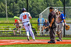 Cortland Crush Alex Flock (10) scores a run against the Niagara Power in New York Collegiate Baseball League playoff action at Gutchess Lumber Sports Complex in Cortland, New York on Saturday, July 27, 2019. Niagara won 10-6.
