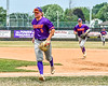 Cortland Crush Hayden Houts (5) runs in after the last out in an inning against the Niagara Power in New York Collegiate Baseball League playoff action at Sal Maglie Stadium in Niagara Falls, New York on Sunday, July 28, 2019. Niagara won 12-6.