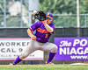 Cortland Crush Anthony Cieszko (3) catching the ball against the Niagara Power in New York Collegiate Baseball League playoff action at Sal Maglie Stadium in Niagara Falls, New York on Sunday, July 28, 2019. Niagara won 12-6.