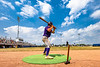 Cortland Crush Anthony Cieszko (3) warming up before his at bat against the Niagara Power in New York Collegiate Baseball League playoff action at Sal Maglie Stadium in Niagara Falls, New York on Sunday, July 28, 2019. Niagara won 12-6.