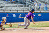 Cortland Crush Alex Babcock (33) after hitting the ball against the Niagara Power in New York Collegiate Baseball League playoff action at Sal Maglie Stadium in Niagara Falls, New York on Sunday, July 28, 2019. Niagara won 12-6.