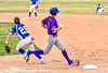 Cortland Crush Jack Lynch (2) beats the throw to First Base against the Niagara Power in New York Collegiate Baseball League playoff action at Sal Maglie Stadium in Niagara Falls, New York on Sunday, July 28, 2019. Niagara won 12-6.
