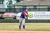 Cortland Crush Anthony Cieszko (3) throwing the ball against the Niagara Power in New York Collegiate Baseball League playoff action at Sal Maglie Stadium in Niagara Falls, New York on Sunday, July 28, 2019. Niagara won 12-6.