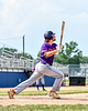 Cortland Crush Max Flock (12) after hitting the ball against the Niagara Power in New York Collegiate Baseball League playoff action at Sal Maglie Stadium in Niagara Falls, New York on Sunday, July 28, 2019. Niagara won 12-6.