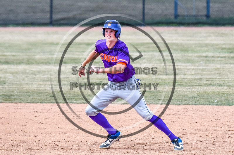 Cortland Crush Jack Lynch (2) running the bases against the Niagara Power in New York Collegiate Baseball League playoff action at Sal Maglie Stadium in Niagara Falls, New York on Sunday, July 28, 2019. Niagara won 12-6.