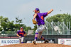 Cortland Crush Garrett Bell (41) pitching against the Niagara Power in New York Collegiate Baseball League playoff action at Sal Maglie Stadium in Niagara Falls, New York on Sunday, July 28, 2019. Niagara won 12-6.