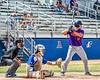 Cortland Crush Dylan Nolan (14) at bat against the Niagara Power in New York Collegiate Baseball League playoff action at Sal Maglie Stadium in Niagara Falls, New York on Sunday, July 28, 2019. Niagara won 12-6.