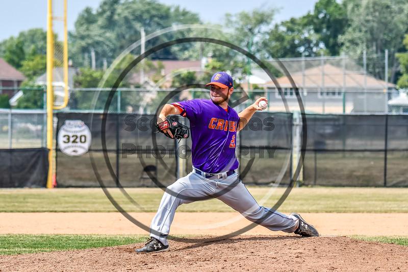 Cortland Crush Ridge Walker (21) pitching against the Niagara Power in New York Collegiate Baseball League playoff action at Sal Maglie Stadium in Niagara Falls, New York on Sunday, July 28, 2019. Niagara won 12-6.