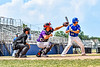 Cortland Crush Dylan Nolan (14) catching against the Niagara Power in New York Collegiate Baseball League playoff action at Sal Maglie Stadium in Niagara Falls, New York on Sunday, July 28, 2019. Niagara won 12-6.