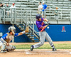 Cortland Crush Stephen Bennett (30) swinging at a pitch against the Niagara Power in New York Collegiate Baseball League playoff action at Sal Maglie Stadium in Niagara Falls, New York on Sunday, July 28, 2019. Niagara won 12-6.