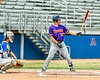 Cortland Crush Stephen Bennett (30) at bat against the Niagara Power in New York Collegiate Baseball League playoff action at Sal Maglie Stadium in Niagara Falls, New York on Sunday, July 28, 2019. Niagara won 12-6.
