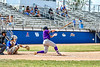 Cortland Crush Hayden Houts (5) hitting the ball against the Niagara Power in New York Collegiate Baseball League playoff action at Sal Maglie Stadium in Niagara Falls, New York on Sunday, July 28, 2019. Niagara won 12-6.