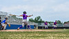 Cortland Crush Hayden Houts (5) after hitting the ball against the Niagara Power in New York Collegiate Baseball League playoff action at Sal Maglie Stadium in Niagara Falls, New York on Sunday, July 28, 2019. Niagara won 12-6.