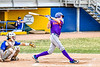 Cortland Crush Jack Lynch (2) after hitting the ball against the Niagara Power in New York Collegiate Baseball League playoff action at Sal Maglie Stadium in Niagara Falls, New York on Sunday, July 28, 2019. Niagara won 12-6.