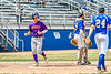 Cortland Crush Anthony Cieszko (3) scores a run against the Niagara Power in New York Collegiate Baseball League playoff action at Sal Maglie Stadium in Niagara Falls, New York on Sunday, July 28, 2019. Niagara won 12-6.