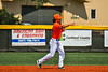 Cortland Crush Corey Stofko (15) throwing the ball against the Albany Athletics in New York Collegiate Baseball League action at Gutchess Lumber Sports Complex in Cortland, New York on Sunday, June 6, 2021.