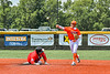 Cortland Crush Javier Rosa (3) throwing the ball against the Albany Athletics in New York Collegiate Baseball League action at Gutchess Lumber Sports Complex in Cortland, New York on Sunday, June 6, 2021.