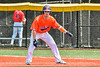 Cortland Crush Zach Marriott (5) on base against the Albany Athletics in New York Collegiate Baseball League action at Gutchess Lumber Sports Complex in Cortland, New York on Sunday, June 6, 2021.