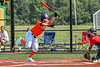 Cortland Crush Wyatt Palmer (31) avoiding a pitch against the Albany Athletics in New York Collegiate Baseball League action at Gutchess Lumber Sports Complex in Cortland, New York on Sunday, June 6, 2021.
