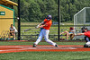 Cortland Crush Michael Breen (6) hits the ball against the Albany Athletics in New York Collegiate Baseball League action at Gutchess Lumber Sports Complex in Cortland, New York on Sunday, June 6, 2021.