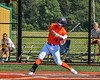 """Cortland Crush Brandon """"Buzz"""" Shirley (18) at bat against the Albany Athletics in New York Collegiate Baseball League action at Gutchess Lumber Sports Complex in Cortland, New York on Sunday, June 6, 2021."""