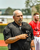 Umpires stand for the National Anthem before Cortland Crush played the Albany Athletics in a New York Collegiate Baseball League game at Gutchess Lumber Sports Complex in Cortland, New York on Sunday, June 6, 2021.