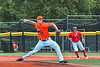 Cortland Crush Carter Kessinger (25) pitching against the Albany Athletics in New York Collegiate Baseball League action at Gutchess Lumber Sports Complex in Cortland, New York on Sunday, June 6, 2021.