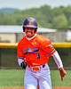 Cortland Crush Javier Rosa (3) running the bases against the Albany Athletics in New York Collegiate Baseball League action at Gutchess Lumber Sports Complex in Cortland, New York on Sunday, June 6, 2021.