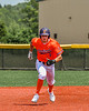 Cortland Crush Nicholas Pastore (1) running the bases against the Albany Athletics in New York Collegiate Baseball League action at Gutchess Lumber Sports Complex in Cortland, New York on Sunday, June 6, 2021.