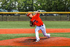 Cortland Crush Jake Albro (16) pitching against the Albany Athletics in New York Collegiate Baseball League action at Gutchess Lumber Sports Complex in Cortland, New York on Sunday, June 6, 2021.