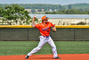 Cortland Crush Michael Breen (6) throwing the ball against the Albany Athletics in New York Collegiate Baseball League action at Gutchess Lumber Sports Complex in Cortland, New York on Sunday, June 6, 2021.