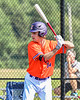 Cortland Crush Zack Hynes (14) at bat against the Albany Athletics in New York Collegiate Baseball League action at Gutchess Lumber Sports Complex in Cortland, New York on Sunday, June 6, 2021.