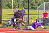 Cortland Crush Javier Rosa (3) is safe at Home Base against the Sherrill Silversmiths in New York Collegiate Baseball League action at Gutchess Lumber Sports Complex in Cortland, New York on Monday, June 7, 2021. Cortland won 10-2.