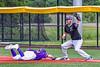 Sherrill Silversmiths Timothy Mott (4) keeping Cortland Crush Wyatt Palmer (31) at First Base in New York Collegiate Baseball League action at Gutchess Lumber Sports Complex in Cortland, New York on Monday, June 7, 2021. Cortland won 10-2.