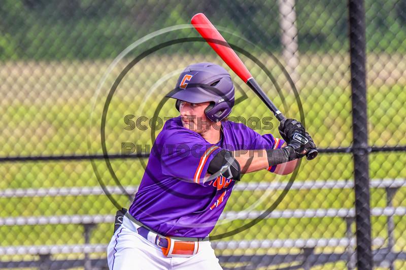 Cortland Crush Wyatt Palmer (31) at bat against the Sherrill Silversmiths in New York Collegiate Baseball League action at Gutchess Lumber Sports Complex in Cortland, New York on Monday, June 7, 2021. Cortland won 10-2.