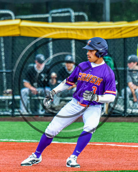 Cortland Crush Javier Rosa (3) running the bases against the Sherrill Silversmiths in New York Collegiate Baseball League action at Gutchess Lumber Sports Complex in Cortland, New York on Monday, June 7, 2021. Cortland won 10-2.