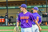 """Cortland Crush Brandon """"Buzz"""" Shirley (18) after pitching an inning against the Sherrill Silversmiths in New York Collegiate Baseball League action at Gutchess Lumber Sports Complex in Cortland, New York on Monday, June 7, 2021. Cortland won 10-2."""