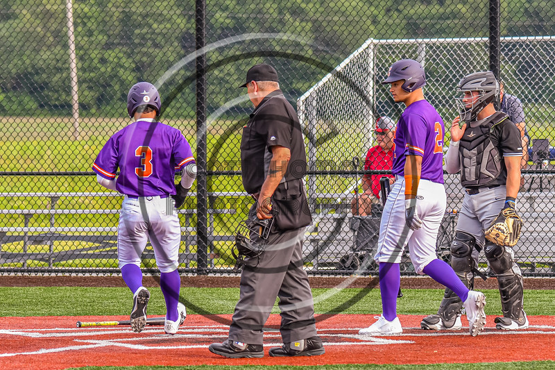 Cortland Crush Javier Rosa (3) scroes a run against the Sherrill Silversmiths in New York Collegiate Baseball League action at Gutchess Lumber Sports Complex in Cortland, New York on Monday, June 7, 2021. Cortland won 10-2.