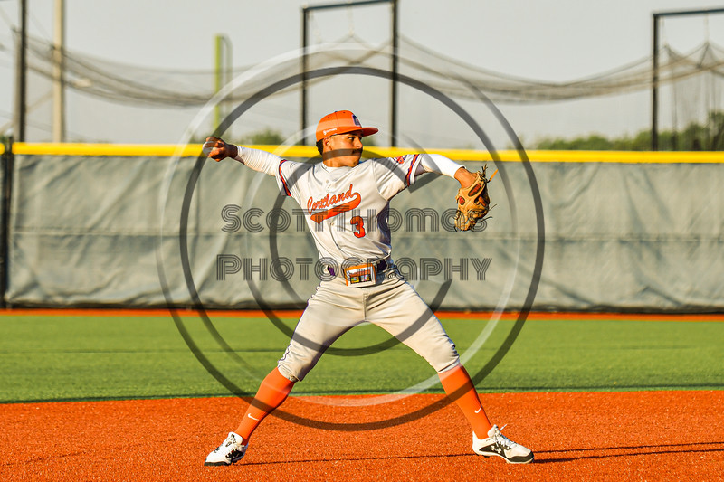 Cortland Crush Javier Rosa (3) throwing the ball against the Syracuse Spartans in New York Collegiate Baseball League action at OCC Turf Field in Syracuse, New York on Wednesday, June 9, 2021. Spartans won 7-5.