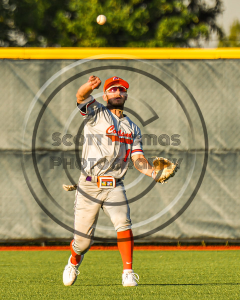Cortland Crush Nicholas Pastore (1) throwing the ball against the Syracuse Spartans in New York Collegiate Baseball League action at OCC Turf Field in Syracuse, New York on Wednesday, June 9, 2021. Spartans won 7-5.