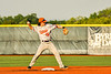 Cortland Crush Corey Stofko (15) throwing the ball against the Syracuse Spartans in New York Collegiate Baseball League action at OCC Turf Field in Syracuse, New York on Wednesday, June 9, 2021. Spartans won 7-5.
